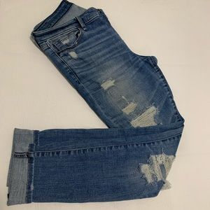 Harper skinny distressed jeans light wash